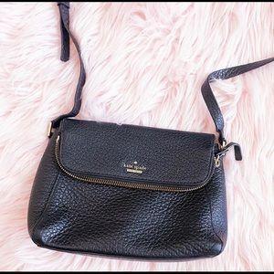 Kate spade Polly flap crossbody black leather bag